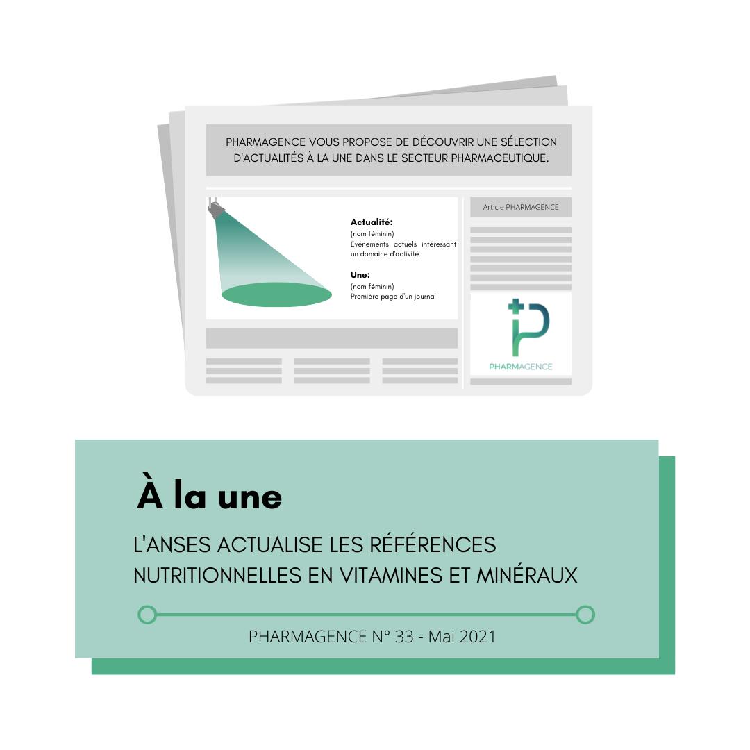 NUTRITION : RÉFÉRENCES ACTUALISÉES PAR L'ANSES