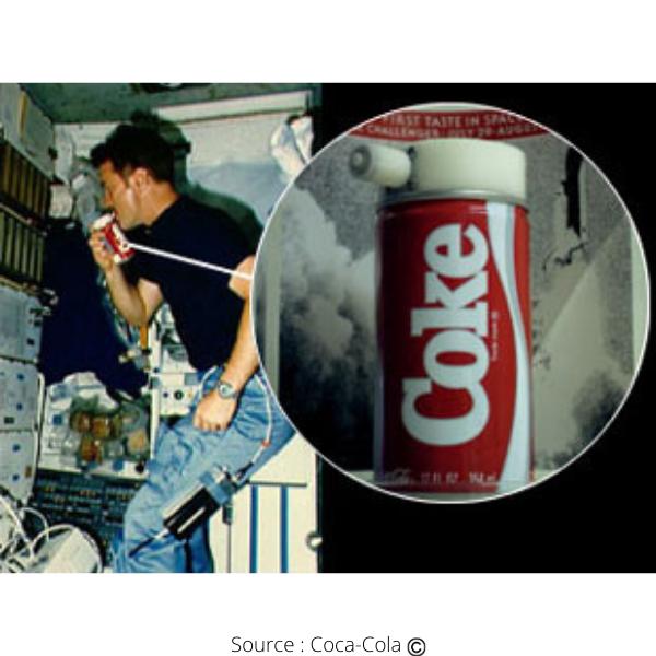 Coca-Cola dans l'espace