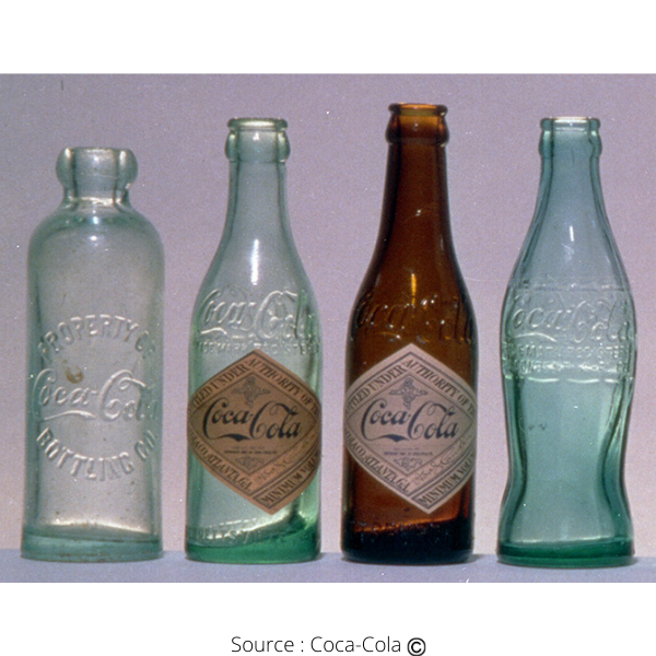 Bouteilles Coca-Cola en verre